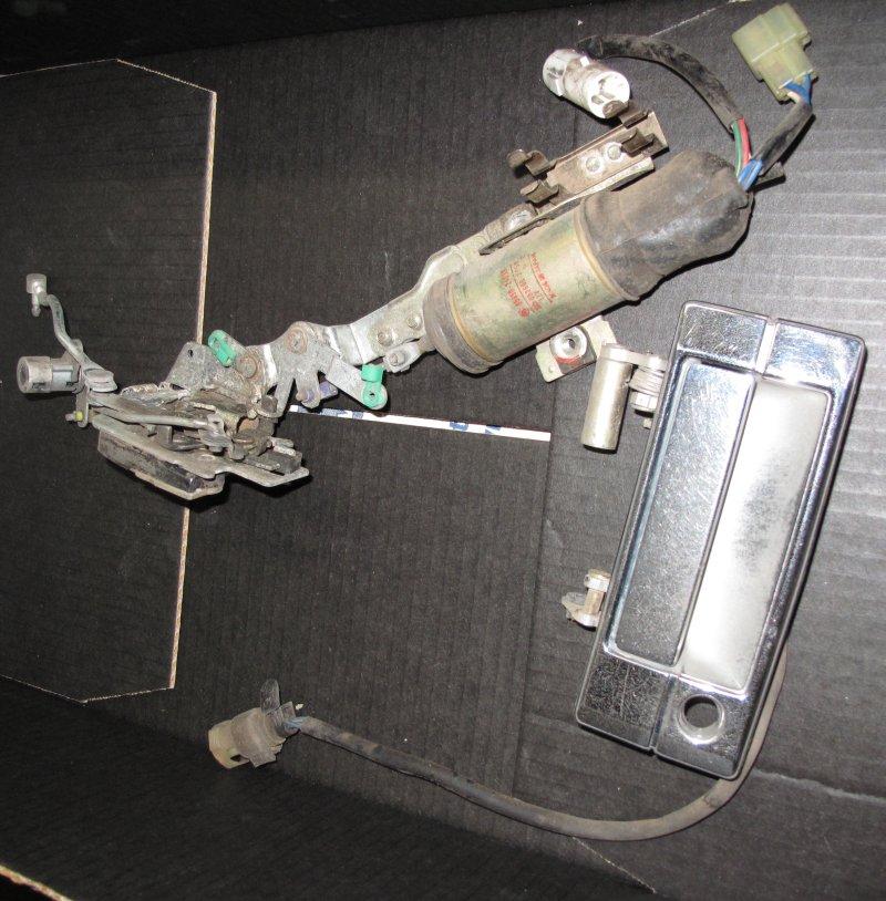 Door Lock with Solenoid and Handle